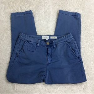 Anthropologie Chino Blue Slim Pants Sz 28